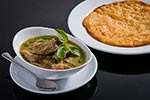 Beef green curry with roti